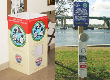 Fishing Line Recycling disposal receptacles