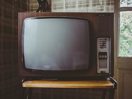 vintage TV set monitor