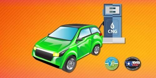 Car CNG charging station