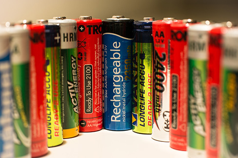 sets of various batteries