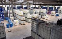 chemicals in storage tanks