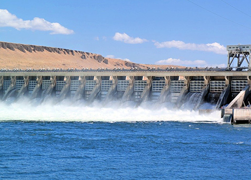 dam letting out water