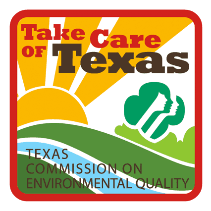 Large image of the Take Care of Texas Girl Scout Patch