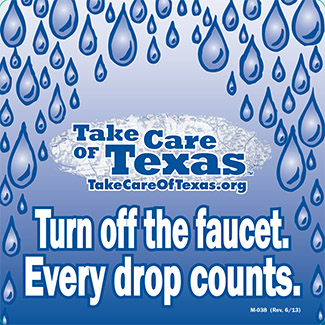 Take Care of Texas mirror cling
