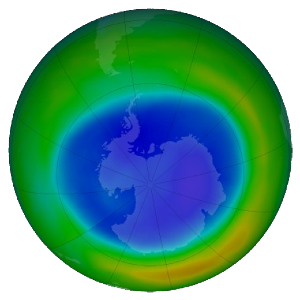 Ozone Map from September 2021