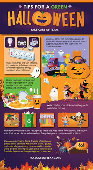 Take Care of Texas Halloween Infographic