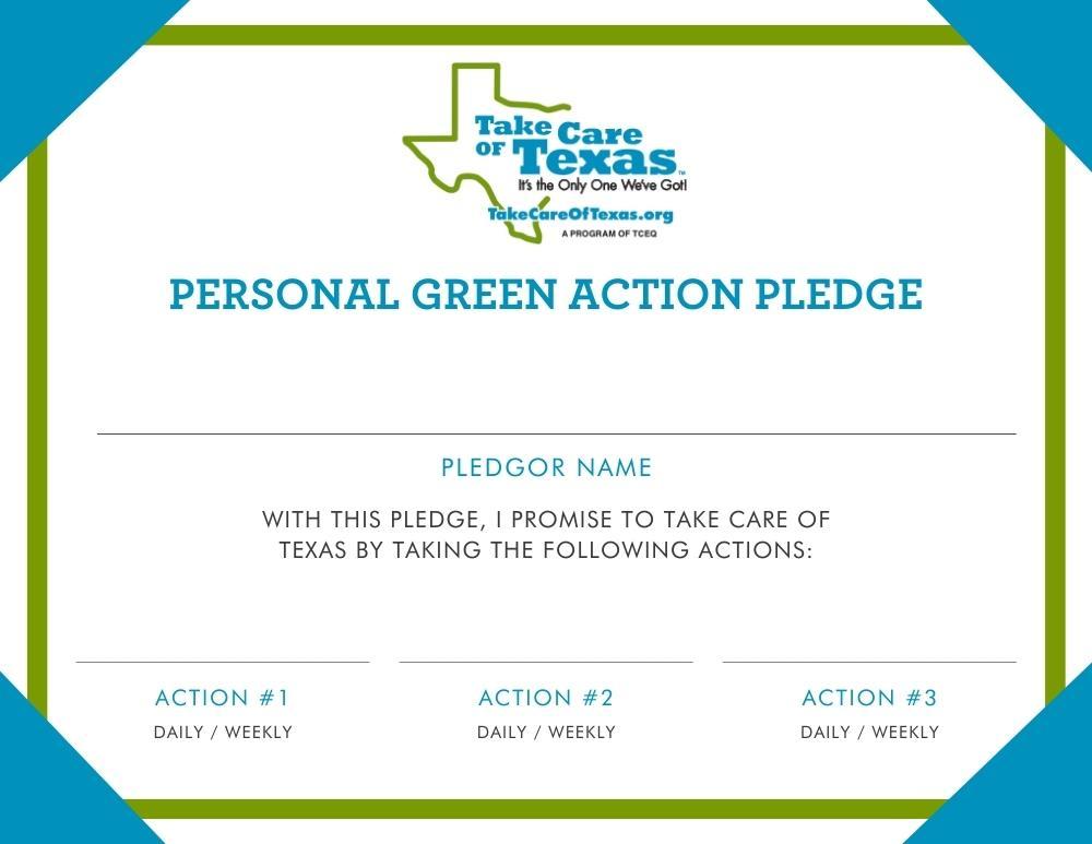 Green Action Pledge Certificate PDF