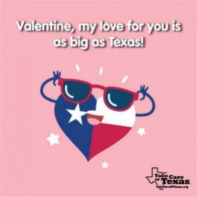 Heart shaped Texas flag with sunglasses