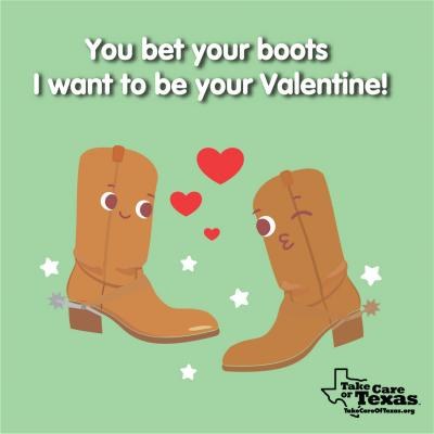 Two boots flirty winking at eachother
