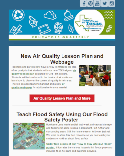 air quality lesson newsletter