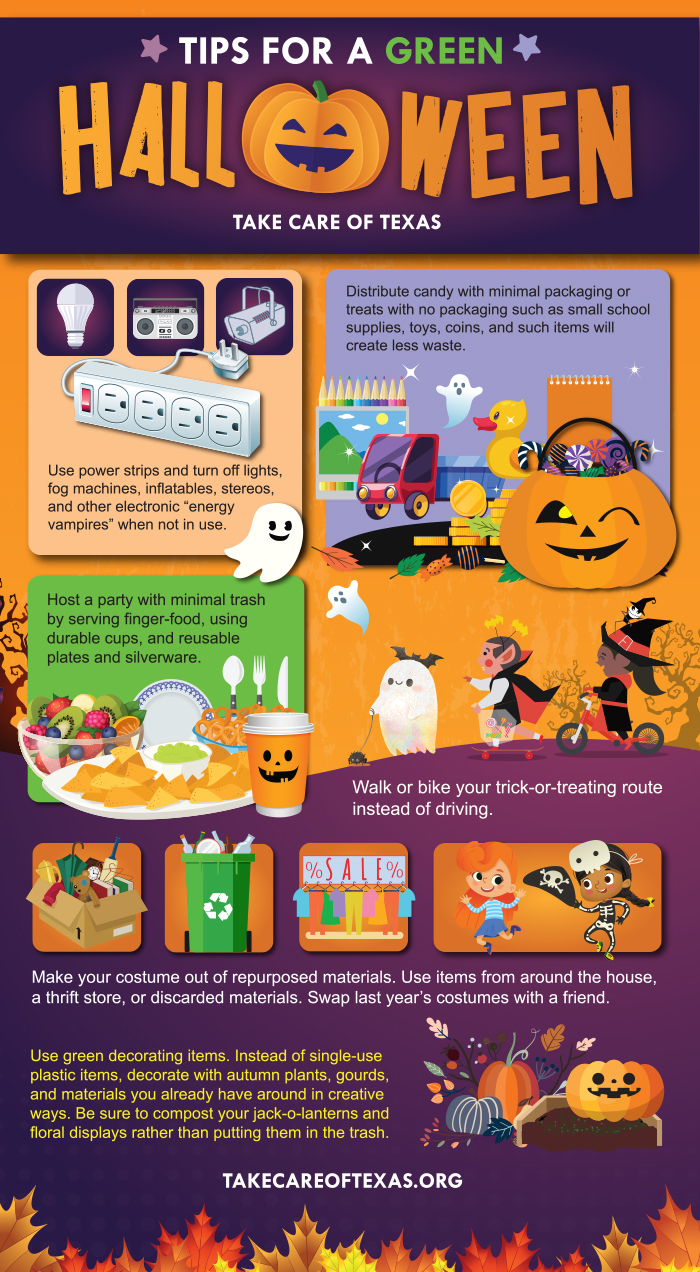 TIps for a Green Halloween Infographic
