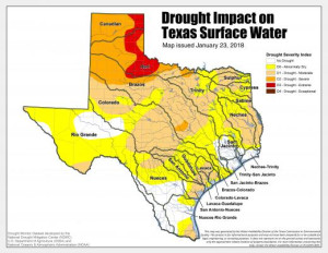 Texas Drought Map