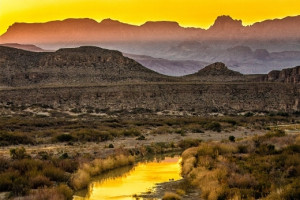 The Rio Grande at sunset