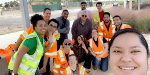 RPS employees at cleanup event