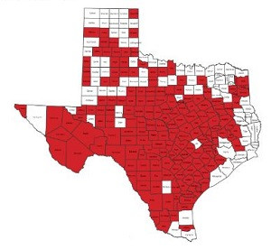 Texas Counties with burn ban