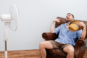 Man in Front of Fan