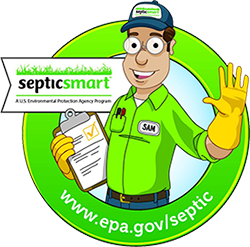 EPA Septic Smart Week Warning Man