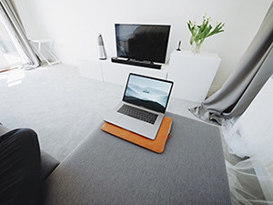 A television and laptop computer