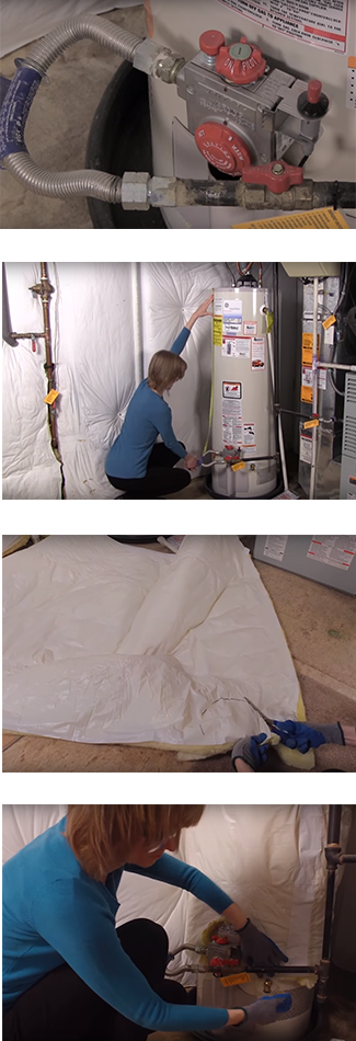 Water Heater insulation Step By Step images