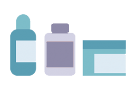 graphic of chemical and medicine bottles