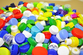 pile of plastic caps