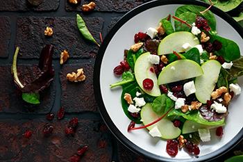 apple salad on table