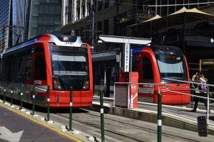 Houston metro rail line red train cabins