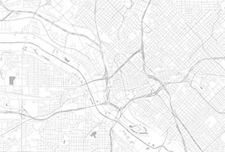 Street map of downtown Dallas