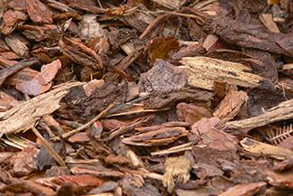 brown bark mulch pile