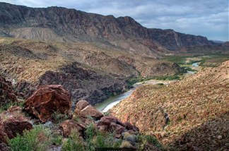 Big Bend National park view of river