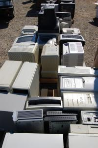 cluster of computers for e-waste