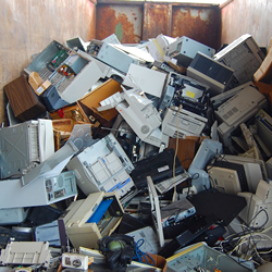 Electronics Recycling dumpster of computers