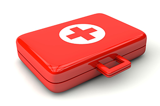 red first aide kit