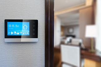 smart house controller on wall