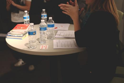 Water Bottles on Meeting Table
