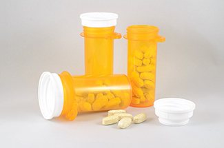 Three bottles of medications