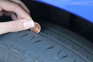 car tire penny test