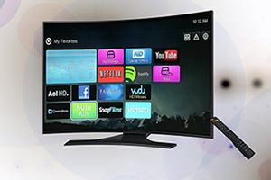 smart display TV with apps